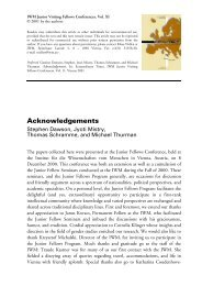Acknowledgements - IWM