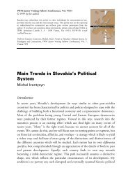 Main Trends in Slovakia's Political System - IWM