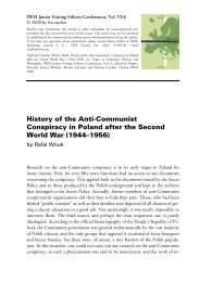 History of the Anti-Communist Conspiracy in Poland after the ... - IWM