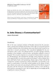 Is John Dewey a Communitarian? - IWM