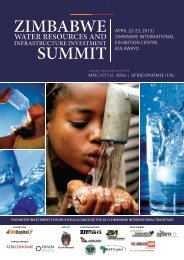 Zimbabwe WATER Resources and Infrastructure Investment Summit