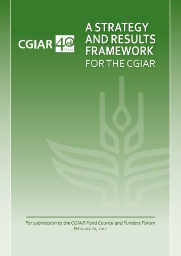 A Strategy and Results Framework for CGIAR - International Water ...