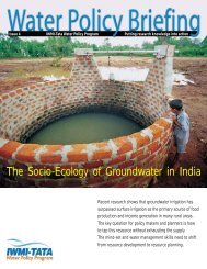 The Socio-Ecology of Groundwater in India - International Water ...