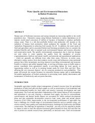 Water Quality and Environmental Dimensions in Biofuel Production