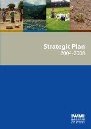 IWMI Strategic Plan 2004 - 2008 - International Water Management ...