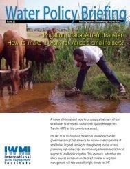 Download PDF - International Water Management Institute - cgiar