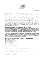 IWO: Heizölpreise seit 2008 um 15% gesunken(pdf) - IWO-Österreich