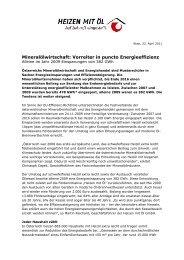 Mineralölwirtschaft: Vorreiter in puncto ... - IWO-Österreich