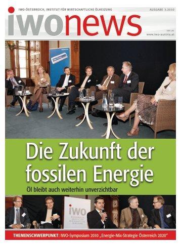 Die Zukunft der fossilen Energie - IWO-Österreich