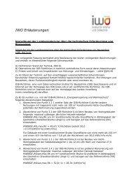IWO Erläuterungen zur Vbg VO über die ... - IWO-Österreich