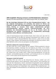 IWO empfiehlt: Heizung erneuern und ... - IWO-Österreich