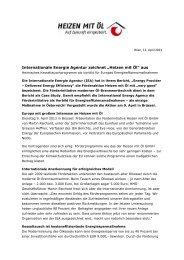 Heizen mit Öl - IWO-Österreich