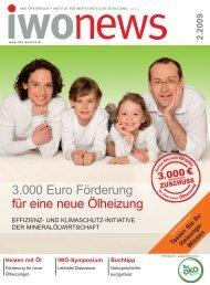 3.000 Euro Förderung für eine neue Ölheizung - IWO-Österreich