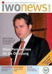 Klare Perspektiven für die Ölheizung - IWO-Österreich