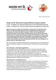 Heizen mit Öl: Österreichs Energie-Effizienz-Champion gekürt € 216 ...