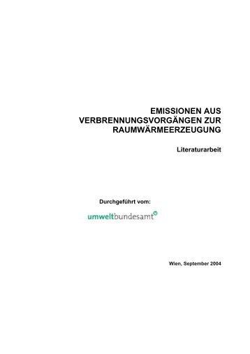 Studie Emissionen – Raumwärme ... - IWO-Österreich