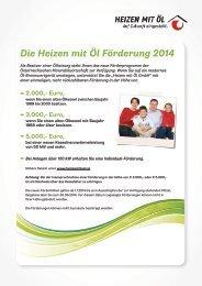 Die Heizen mit Öl Förderung 2014(pdf) - IWO-Österreich