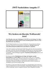 IWÖ Nachrichten Ausgabe 17 - Interessengemeinschaft liberales ...