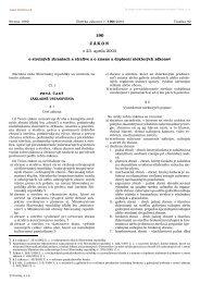 190 Z Á K O N z 23. apríla 2003