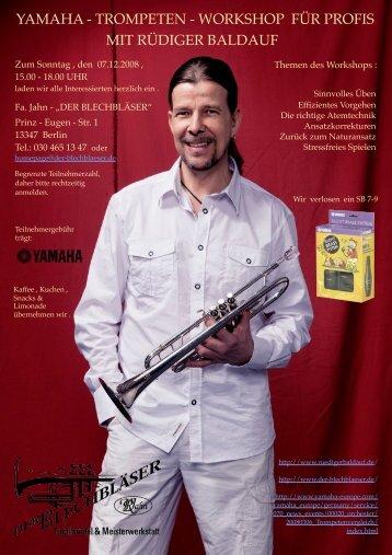 yamaha - trompeten - workshop für profis mit ... - Der Blechbläser