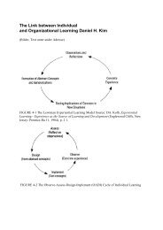 The Link between Individual and Organizational Learning Daniel H ...