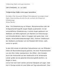 DER STANDARD, 25. Juli 2003 Nobelpreisträger Stiglitz wettert ...