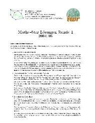 Lösung 1.Runde 04/05 - IWR