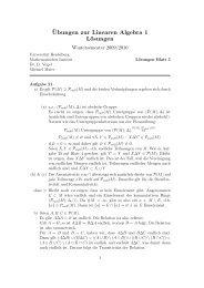 ¨Ubungen zur Linearen Algebra 1 Lösungen - IWR