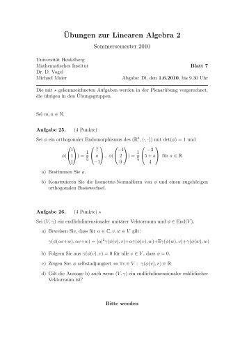 Blatt 7 - IWR