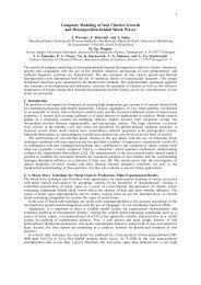 1 Computer Modeling of Iron Clusters Growth and Decomposition ...
