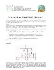 Mathe–Star 2006/2007, Runde 1 - IWR