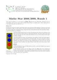 Mathe–Star 2008/2009, Runde 1 - IWR