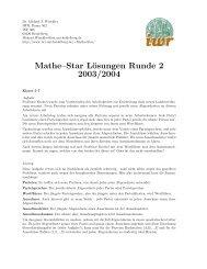 Lösung 2.Runde 03/04 - IWR
