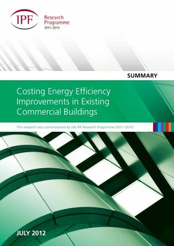 Costing Energy Efficiency Improvements in Existing Commercial Buildings