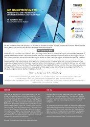 IWS ZUKUNFTSFORUM 2012 - Immobilien Wirtschaft Stuttgart