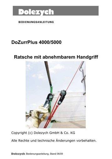 Dozurrplus 4000/5000 Ratsche mit ... - Dolezych Gmbh & Co.