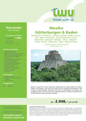Mexiko Götterburgen