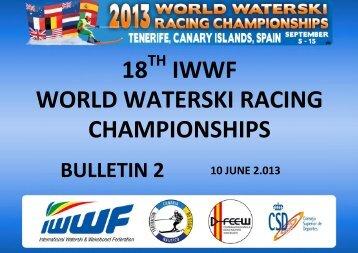 Bulletin 2 - International Water Ski Federation