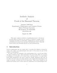 pdf - Aesthetic Analysis of Proofs of the Binomial Theorem - Illinois ...