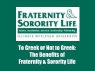 Greek Life - Illinois Wesleyan University
