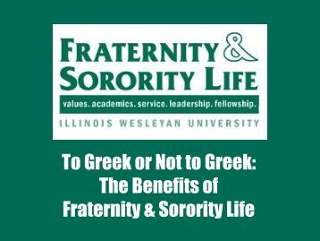Greek Life - Illinois Wesleyan University