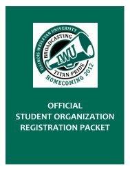 official student organization registration packet - Illinois Wesleyan ...