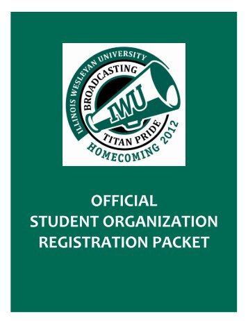 official student organization registration packet - Illinois Wesleyan ...