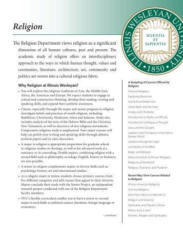 Religion - Illinois Wesleyan University