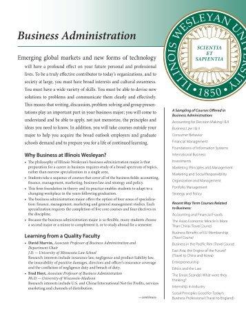 Business Administration - Illinois Wesleyan University