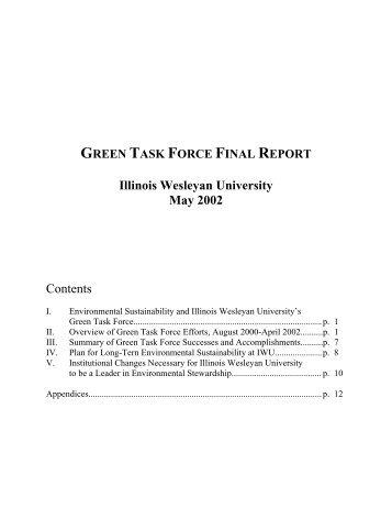 report - Illinois Wesleyan University