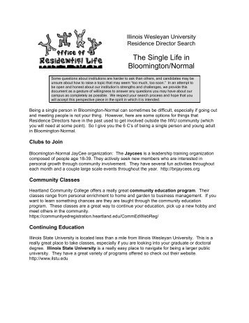 The Single Life in Bloomington/Normal - Illinois Wesleyan University