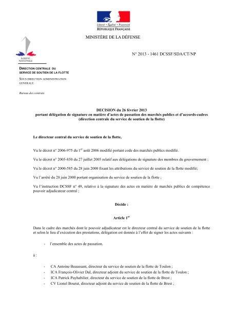 Delegation De Signature Dcssf Ixarm
