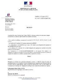 MINISTÈRE DE LA DÉFENSE ET DES ANCIENS COMBATTANTS ...