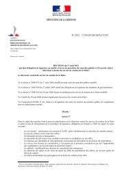 Délégation actes de passation et d'exécution du 11.10.2012